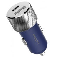 АЗУ Rock Sitor Type-C Car Charger 3.4A Blue