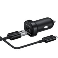 АЗУ Samsung EP-LN930BBEGRU AFC Car Charger mini wiht Micro USB2.0 Cable Black