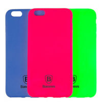 Силиконовый чехол Baseus Soft Colorit Case for iPhone 5/5S/SE Blue