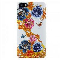 Силиконовый чехол Inavi GALLERY iPhone 5/5S/SE Цветы