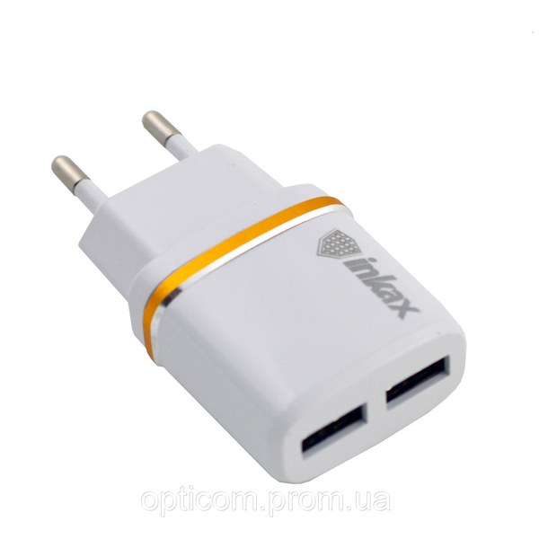 Сетевое зарядное устройство Inkax CD-11 СЗУ 2 USB 2.1A