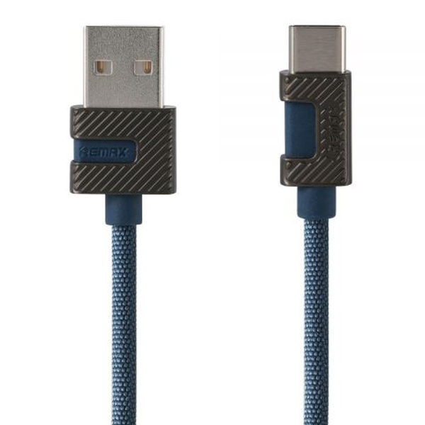 REMAX Metal Data Cable (RC-089i) iPhone 6/5 2.4A 1m Blue