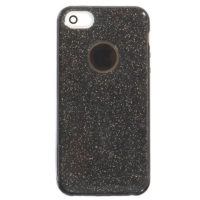 Силиконовая накладка Shining Glitter Case iPhone 5/5S/SE Black