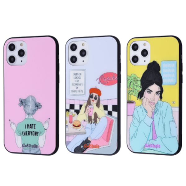 Чехол ArtStudio Case Girls Mood series (Glass+TPU) iPhone 11 Pro