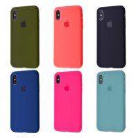Чехол Silicone Case Full Cover iPhone X Xs