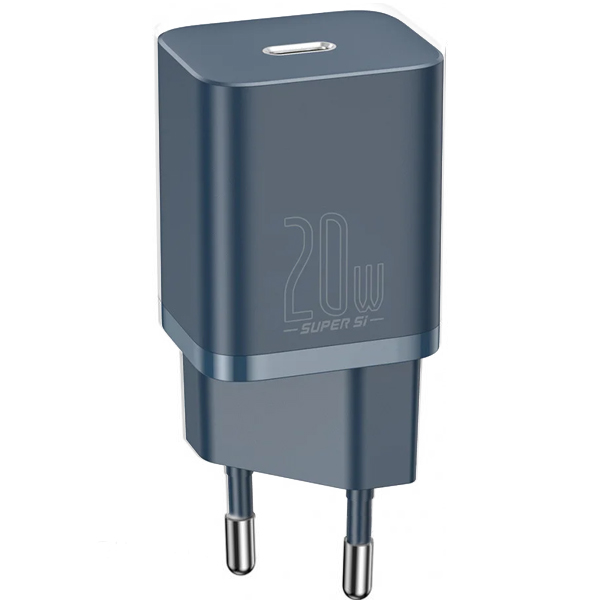 CЗУ Baseus Super Silicone PD Charger 20W (1Type-C)Blue